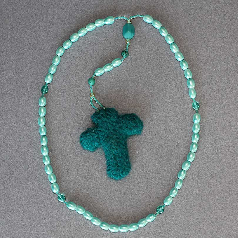 Felted Cross Rosary