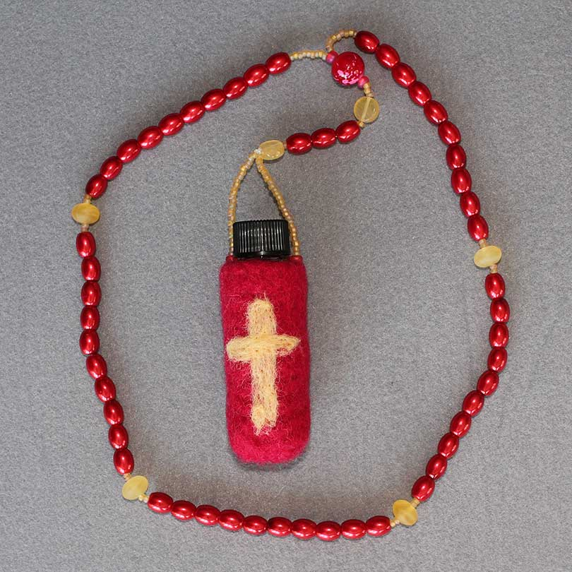 Felted Holy Water Rosary