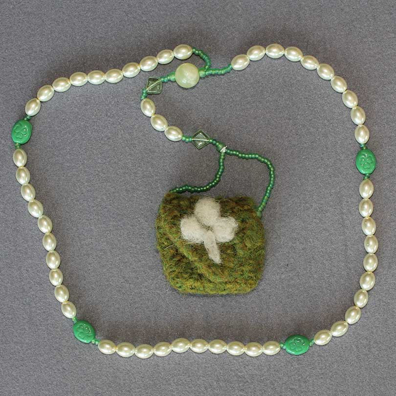 Felted Pouch Rosary 2